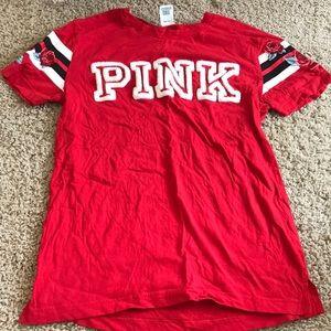 Red PINK victoria secret tshirt